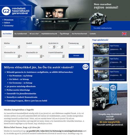 G2 minősített használtautó garanciával