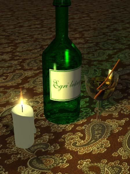 Csendélet gyertyával